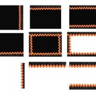 Orange and Black Polka Dot Powerpoint Background Slides