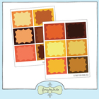 Orange and Brown Labels - Printable Digital Download Sheet