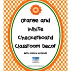 Orange and White Footbal Themed Classroom Decor