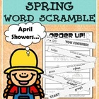 Order Up! SPRING Word Scramble
