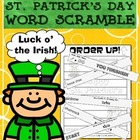 Order Up! St. Patrick's Day Word Scramble