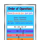 Order of Operations Activities and Printables