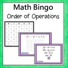 Order of Operations Bingo