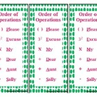 Order of Operations Bookmark Freebie