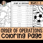 Order of Operations Coloring Worksheet Fall Theme