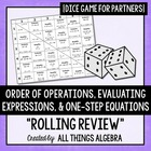 Order of Operations, Evaluating Expressions, One-Step Equa