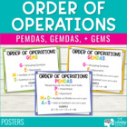 Order of Operations {PEMDAS} Posters