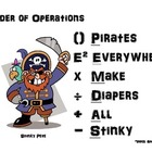Order of Operations - Pirate Style with Exponents