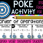 Order of Operations Poke Activity - Perfect for Math Workshop!!