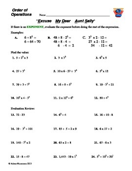 Order of Operations: Rules, Practice, Exams, & Teacher Ideas