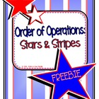 Order of Operations: Stars and Stripes FREEBIE