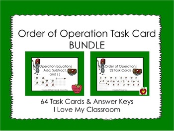 Order of Operations Task Card BUNDLE {64 Task Cards}