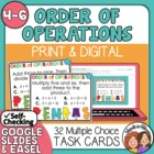 Order of Operations Task Cards: 32 Multiple Choice Cards