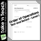 Order of Operations Tests (Level 1)