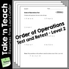 Order of Operations Tests (Level 2)