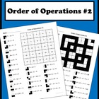 Order of Operations color worksheet #2