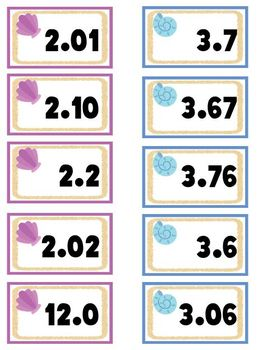 Ordering Decimals Acivity with Recording Sheet