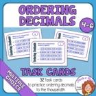 Ordering Decimals Task Cards: 32 Multiple Choice Cards