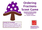 Ordering Fractions Scoot Game (Common Core aligned)
