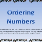 Ordering Numbers Center or Group Activity