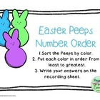 Ordering Numbers: Easter Peeps