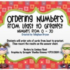 Ordering Numbers from Least to Greatest {0-20}