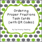 Ordering Proper Fractions Task Cards with QR Codes