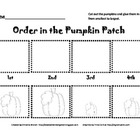 Ordinal Number Pumpkins Cut and Paste