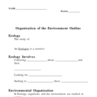 Organization of the Environment - Ecology Notes Outline Le