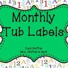 Organizational Tub Labels