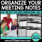 Organize YOUR MEETING NOTES - {Blackline Design Collection}