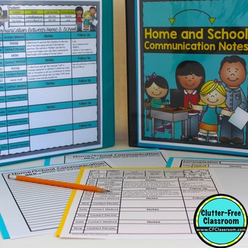 Organize YOUR PARENT COMMUNICATION NOTES - {Blackline Desi