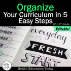 Organize Your Curriculum-use these templates to plan your