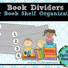 Organize Your Read Aloud Books by Author or Month: Shelf Dividers