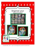 Organize your classroom!