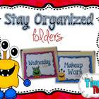 Organized Work Folders: Editable {Monsters Theme}