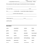 Organizer for Writing Community Paragraph