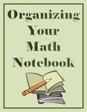 Organizing Your Math Notebook:  Math Posters for your Classroom