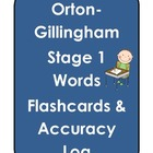 Orton-Gillingham Stage 1 Flashcards & Log
