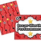 Oscar Hollywood Bulletin Board Set