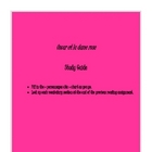 Oscar et la dame rose Study Guide