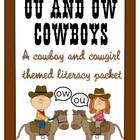 Ou and Ow Cowboy and Cowgirl Literacy Packet
