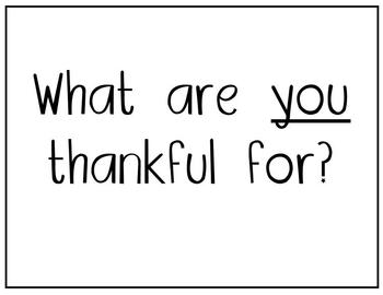 """Our Class Is Thankful For..."" (Thanksgiving Class Book)"
