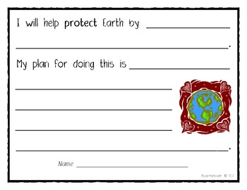 """Our Class Will Help Protect Earth..."" (Earth Day Class Book)"