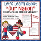 Our Nation USA Web Quest Internet Search Lesson