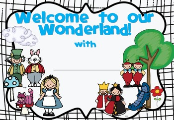 Our Wonderland Classroom Theme Set