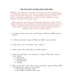 Out of Dust Study Guide/Exam