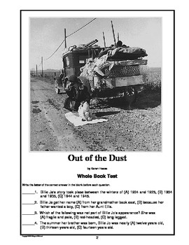 Out of the Dust  Whole Book Test