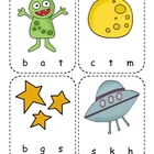 Outer Space Beginning Sounds Clip Cards