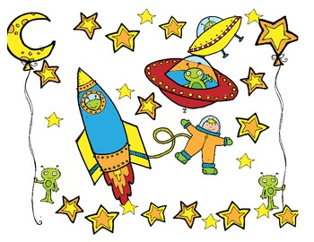 Outer Space I Spy: Popcorn Words and Letters